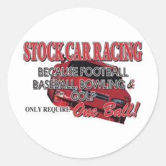 Stock Car Racing Round Stickers