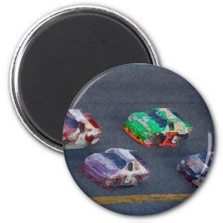 Stock Cars 4 Fridge Magnet
