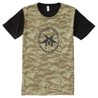 Stock Class Paintball Desert Tiger Stripe Camo All-Over Print T-Shirt