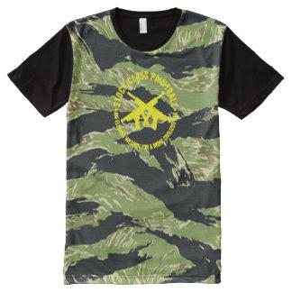 Stock Class Paintball Vietnam Tiger Stripe Camo All-Over Print T-Shirt