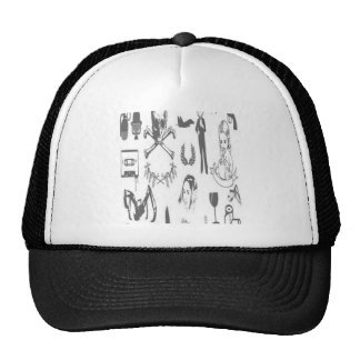 Stock design mesh hats
