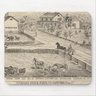 Stock farm and residence in Shoreham Mouse Pad