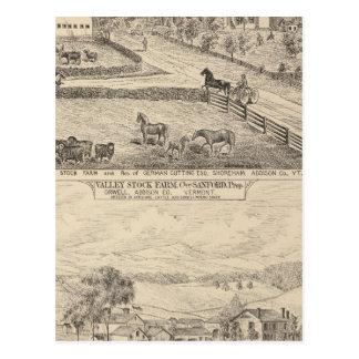 Stock farm and residence in Shoreham Postcards