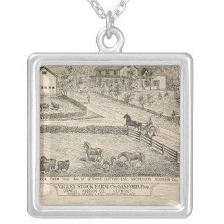 Stock farm and residence in Shoreham Silver Plated Necklace