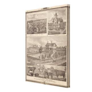 Stock farm canvas prints