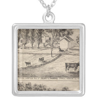 Stock farm in Orwell Vermont Silver Plated Necklace