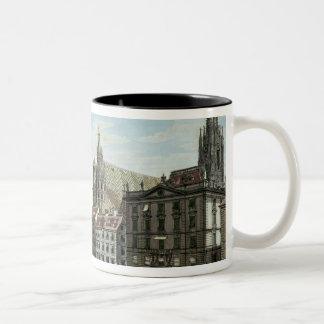 Stock-im-Eisen-Platz, with St. Stephan's Two-Tone Coffee Mug