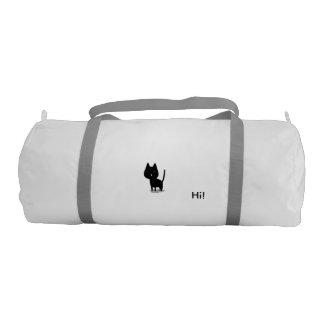 stock market all white use, gati. gym duffel bag