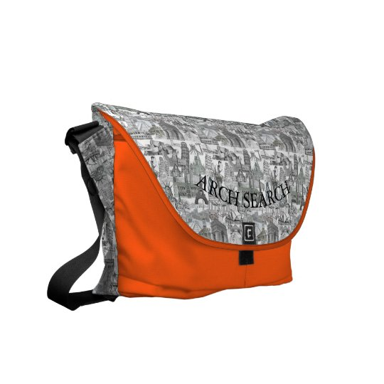 Stock market Arch average Mural Search Commuter Bag