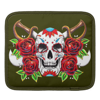 """Stock market for iPad """"Mexican Skull """" Sleeves For iPads"""