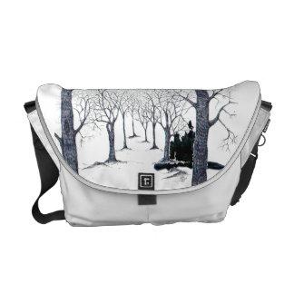 Stock market forest mystery messenger bag