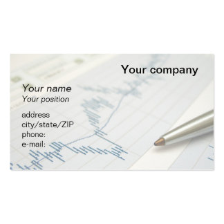 """""""Stock market graph and pen"""" business card"""