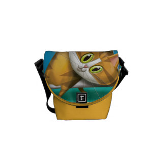 Stock market Love Cats Courier Bag
