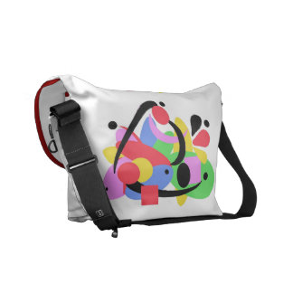 Stock market Messenger Rickshaw, abstract Commuter Bags