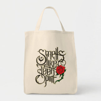 "Stock market ""Smells Like Teen Spirit "" Grocery Tote Bag"