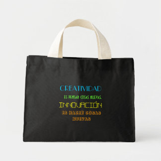 Stock market with phrase on Creativity and Mini Tote Bag