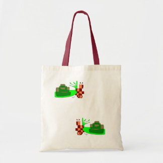 stock market with two green snails tote bag