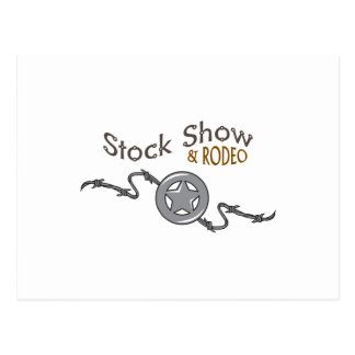 STOCK SHOW AND RODEO POSTCARD