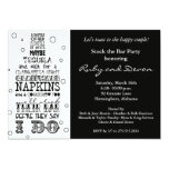 Stock the Bar Bottle Rhyme Party Invitation- Black 13 Cm X 18 Cm Invitation Card
