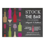 Stock The Bar Chalk Bottles Party Invitation