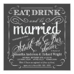 Stock the Bar Chalkboard Wedding Shower Invitation