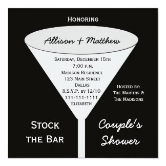 Stock the Bar Couples Shower Invitation