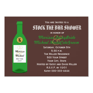 Stock the Bar Couples Shower Invitation - Brown