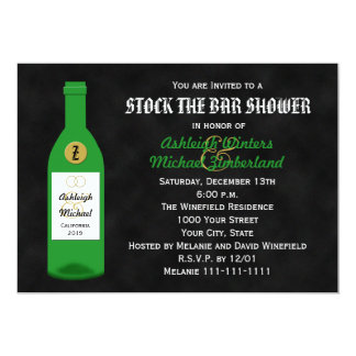 Stock the Bar Couples Shower Invitation Chalkboard