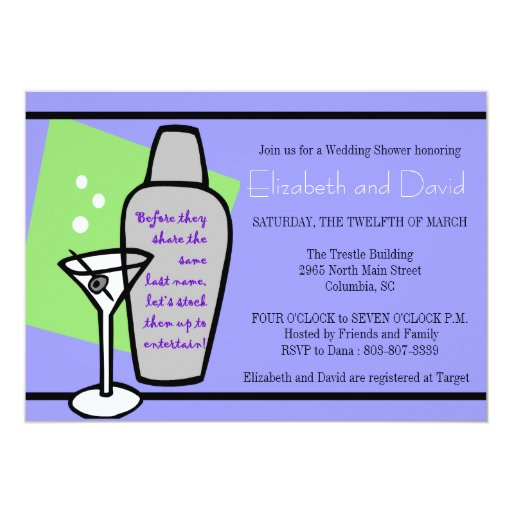 Stock the bar shower 13 cm x 18 cm invitation card