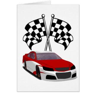 Stockcar Racing & Flags Greeting Card
