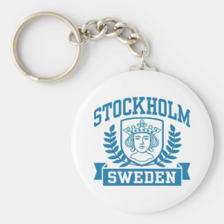 Stockholm Basic Round Button Key Ring
