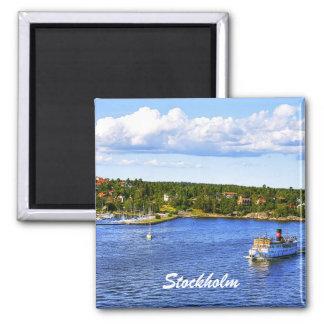 Stockholm Bay Square Magnet