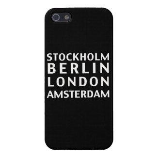 Stockholm Berlin London Amsterdam Case iPhone 5/5S Case