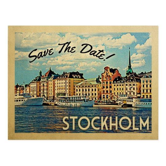 Stockholm Save The Date Sweden Postcard