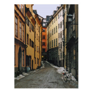 Stockholm Street Postcard
