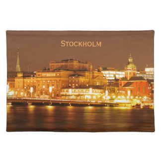 Stockholm, Sweden at Christmas at night Placemat