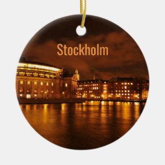 Stockholm, Sweden at night Christmas Ornament