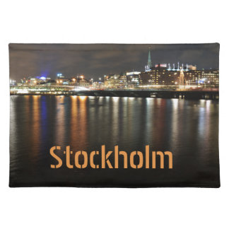 Stockholm, Sweden at night Placemat