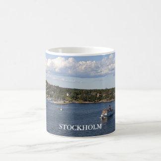 Stockholm Sweden Bay Basic White Mug