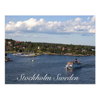 Stockholm Sweden Bay Postcard