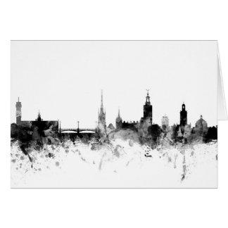 Stockholm Sweden Skyline Card
