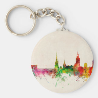 Stockholm Sweden Skyline Key Chains