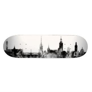 Stockholm Sweden Skyline Skate Board Decks