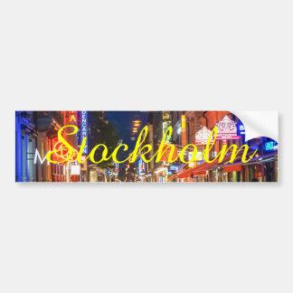 Stockholm Sweden Street Scene Bumper Sticker
