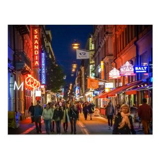 Stockholm Sweden Street Scene Postcard