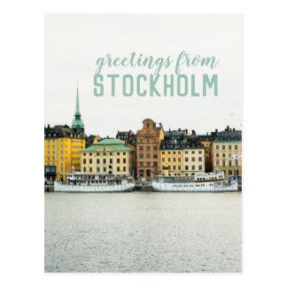 Stockholm Sweden Travel Postcard