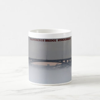 Stockholm, Traneberg Bridge Basic White Mug