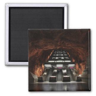 Stockholm Underground I Square Magnet