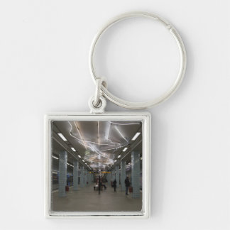 Stockholm Underground II Silver-Colored Square Key Ring