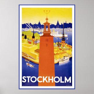 """""""Stockholm"""" Vintage Travel Poster"""